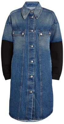 MM6 MAISON MARGIELA Contrast-Sleeves Denim Jacket Dress