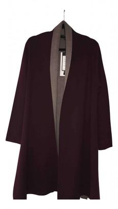 Sportmax Burgundy Synthetic Coats