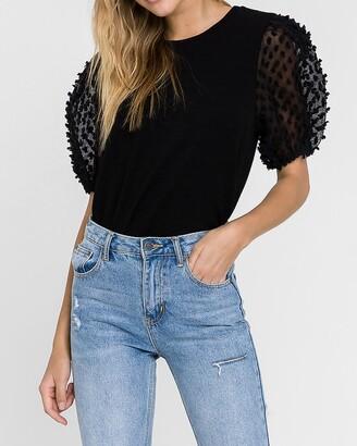 Express La'Ven Knit Short Sleeve Top