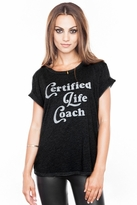 Local Celebrity Life Coach Schiffer Tee in Black