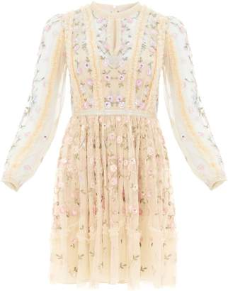 Needle & Thread Wallflower Embroidered Mini Dress
