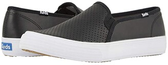 Keds Double Decker Perf Leather (Black) Women's Shoes
