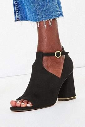 Oasis Womens Black Peep Toe Shoe Boots - Black