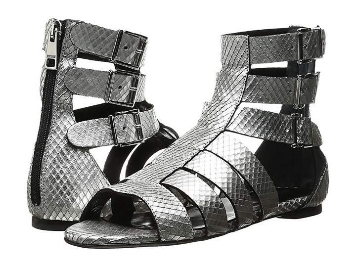 Just Cavalli Python Leather Sandal Women's Shoes