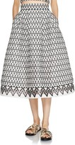 Maje Josy Lace Midi Skirt