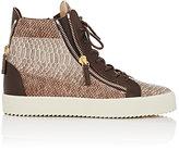 Giuseppe Zanotti Men's Double-Zip High-Top Sneakers-BROWN