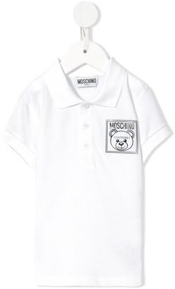 MOSCHINO BAMBINO Logo Couture Polo Shirt