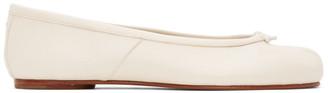 Maison Margiela Off-White Tabi Ballerina Flats