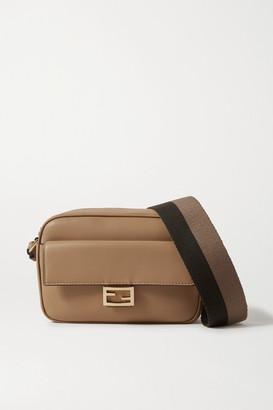 Fendi Baguette Canvas-trimmed Leather Shoulder Bag - Tan