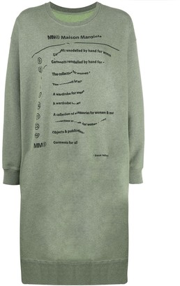 MM6 MAISON MARGIELA Explanation-print sweatshirt dress