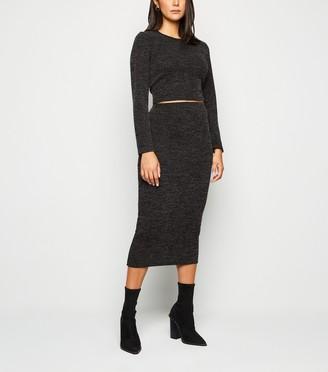 New Look Fine Knit Midi Skirt