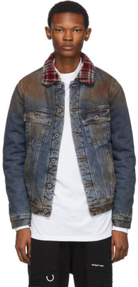 Off-White Blue Eco Shearling Denim Jacket