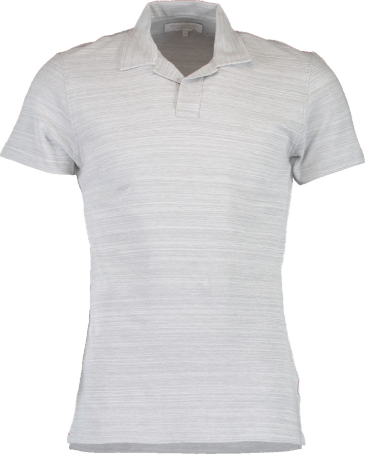 Orlebar Brown Felix Pewter Cloud Resort Polo