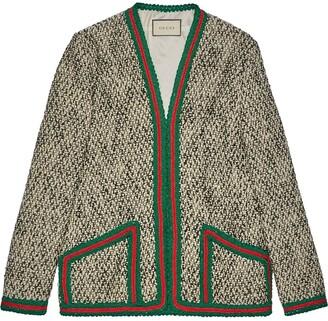 Gucci tweed Web jacket