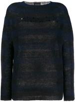 Ermanno Ermanno striped embellished logo jumper