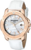 Tommy Bahama Women's 10018300 Laguna Crystal White Leather Watch
