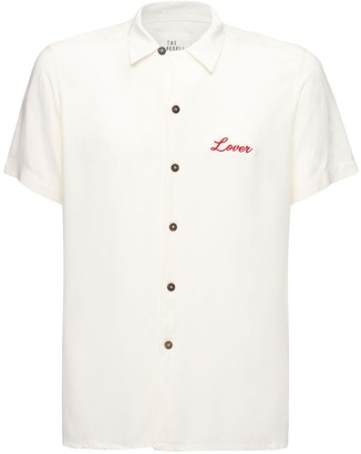 The People Vs Lover Mason Embroidered Rayon Shirt