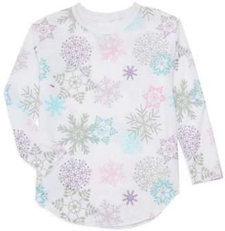Chaser Girl's Snowflake Long-Sleeve Top