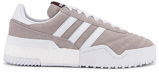 Adidas Originals By Alexander Wang AW Bball Soccer Sneaker in Clear Granite & Core White | FWRD