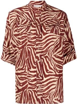 Zimmermann zebra-print silk shirt
