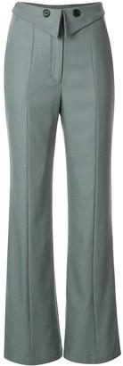 Palmer Harding Folded Waistband Flared Trousers