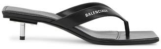Balenciaga 40mm Black Leather Sandals