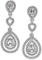 Charter Club Gold-Tone Crystal and Pave Orbital Drop Earrings, Created for Macy's