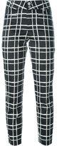 Steffen Schraut check print cropped trousers - women - Cotton/Spandex/Elastane - 34