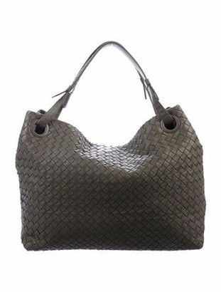 Bottega Veneta Medium Intrecciato Shoulder Bag Grey