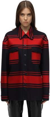 N°21 Striped Wool Blend Jacket