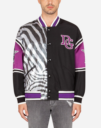 Dolce & Gabbana Mixed-Fabric Jacket With Patch