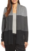 Eileen Fisher Women's Colorblock Merino Wool Cardigan