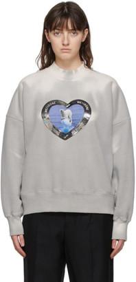 we11done Grey Thermo Sensitive Polar Bear Sweatshirt