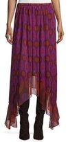 Diane von Furstenberg Louella Handkerchief-Hem Silk Skirt, Parry Petite Amethyst