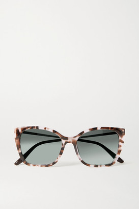 Prada Cat-eye Tortoiseshell Acetate And Gold-tone Sunglasses