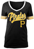 5th & Ocean Women's Pittsburgh Pirates Retro V-Neck T-Shirt