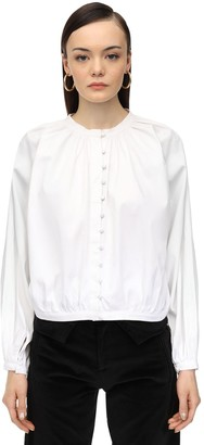 ÀCHEVAL PAMPA Cotton Blend Satin Shirt