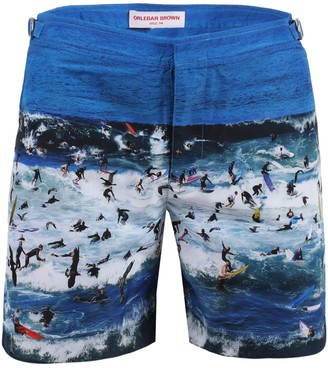 Orlebar Brown Bulldog Surf Print Swim Trunks