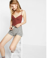 Express one eleven ribbed seamed cami bodysuit