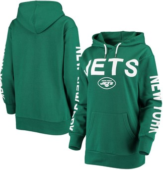 G Iii Women's G-III 4Her by Carl Banks Green New York Jets Extra Point Pullover Hoodie