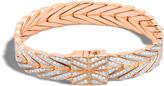John Hardy Women's Modern Chain 11MM Bracelet in 18K Rose Gold with Diamonds