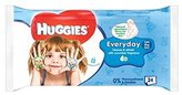 Huggies Baby Wipes On-The-Go 24 per pack - Pack of 6