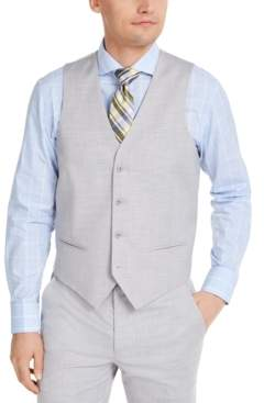 Alfani Men's Classic-Fit Stretch Light Gray Solid Suit Vest, Created For Macy's