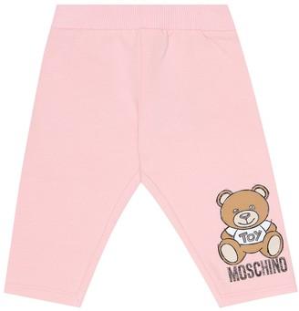 MOSCHINO BAMBINO Baby stretch-cotton leggings
