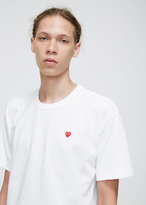 Comme des Garcons White Small Red Heart T-shirt