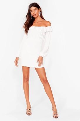 Nasty Gal Womens Better Off-the-Shoulder Mini Dress - White