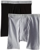 Hanes Red Label Men's 2-Pack Exposed Waistband Dyed Boxer Briefs