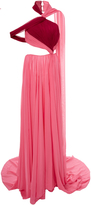 Prabal Gurung Charlotte Twist Halter Side Cut-Out Gown
