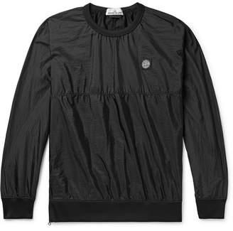 Stone Island Logo-Appliqued Nylon Metal Ripstop Sweatshirt