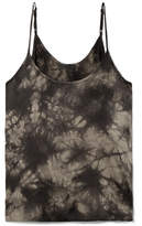 ATM Anthony Thomas Melillo Tie-dyed Crinkled Silk-charmeuse Camisole